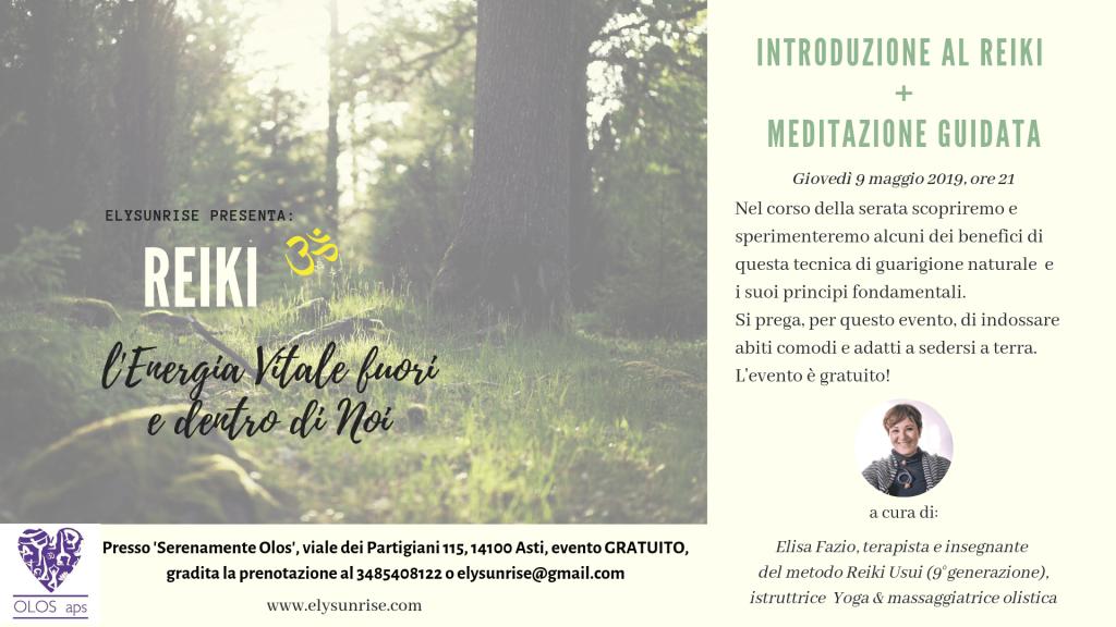 Introduzione al Reiki – Seminario gratuito Asti