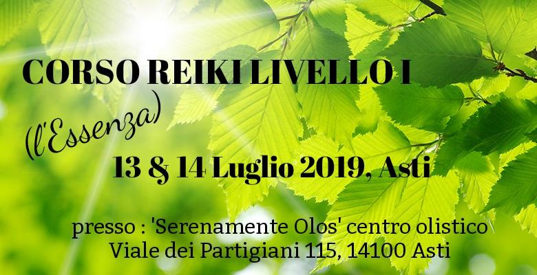 Corso Reiki Primo Livello Asti