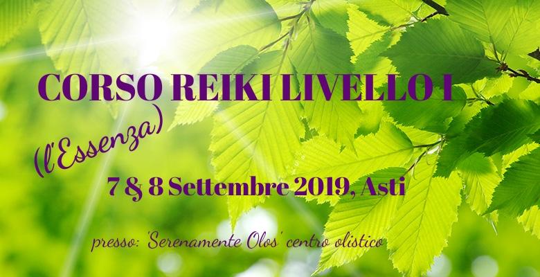 Corso Reiki Primo livello, Asti