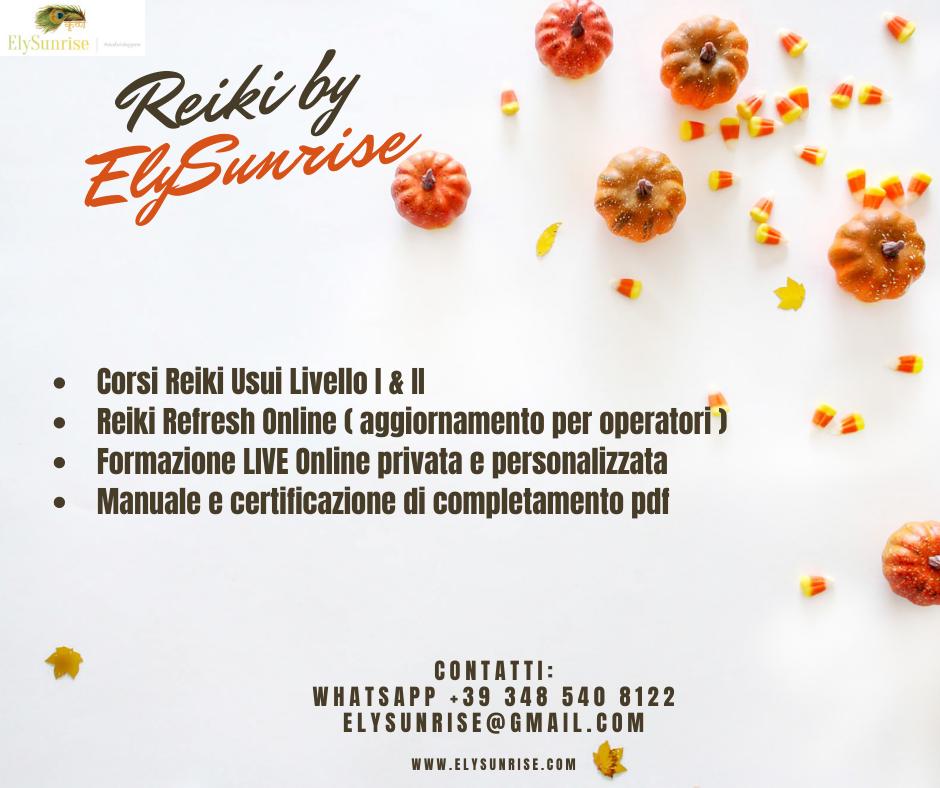 Reiki Primo Livello Asti Ottobre 2020